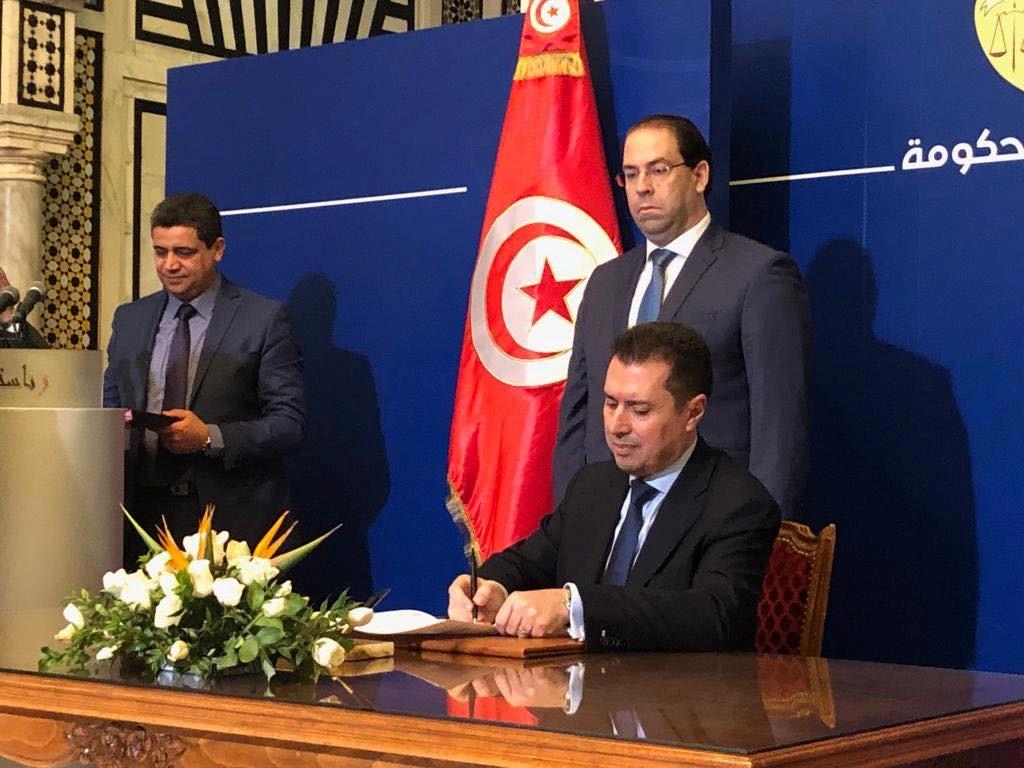 Signature de l'accord de principe remis par le Ministre de l'énergie à Quadran Tunisie, filiale locale de Qair