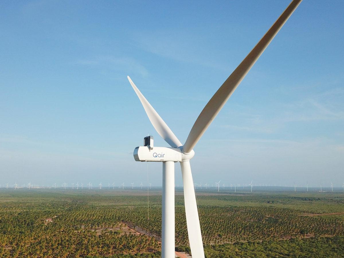 Éolienne Qair sur le parc de Serrote au Brésil